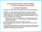 looking forward impact on ssd and our guidelines for documentation