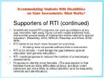 supporters of rti continued