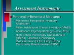assessment instruments77