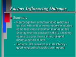 factors influencing outcome31