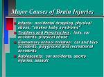 major causes of brain injuries