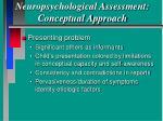 neuropsychological assessment conceptual approach