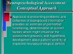 neuropsychological assessment conceptual approach36