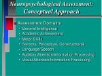 neuropsychological assessment conceptual approach38