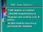 tbi some statistics