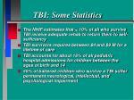tbi some statistics16