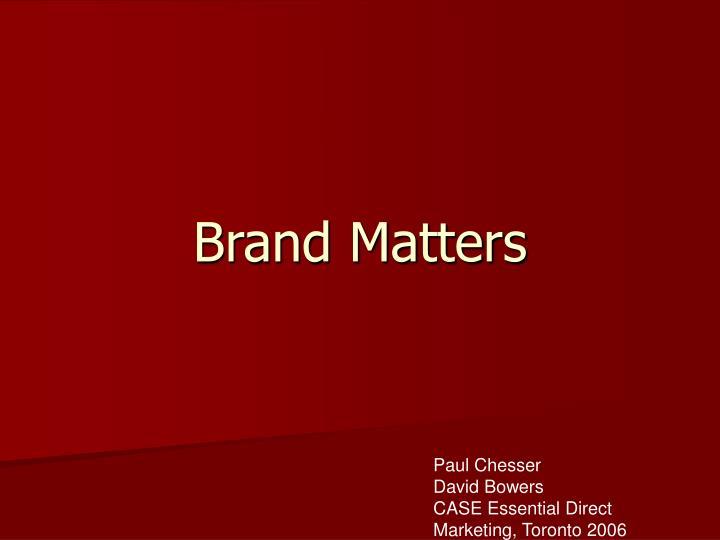brand matters n.