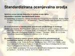 standardizirana ocenjevalna orodja
