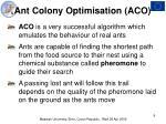ant colony optimisation aco