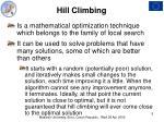 h ill climbing