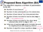 proposed bees algorithm ba26