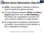 swarm based optimisation algorithm