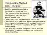 the doolittle method g m doolittle