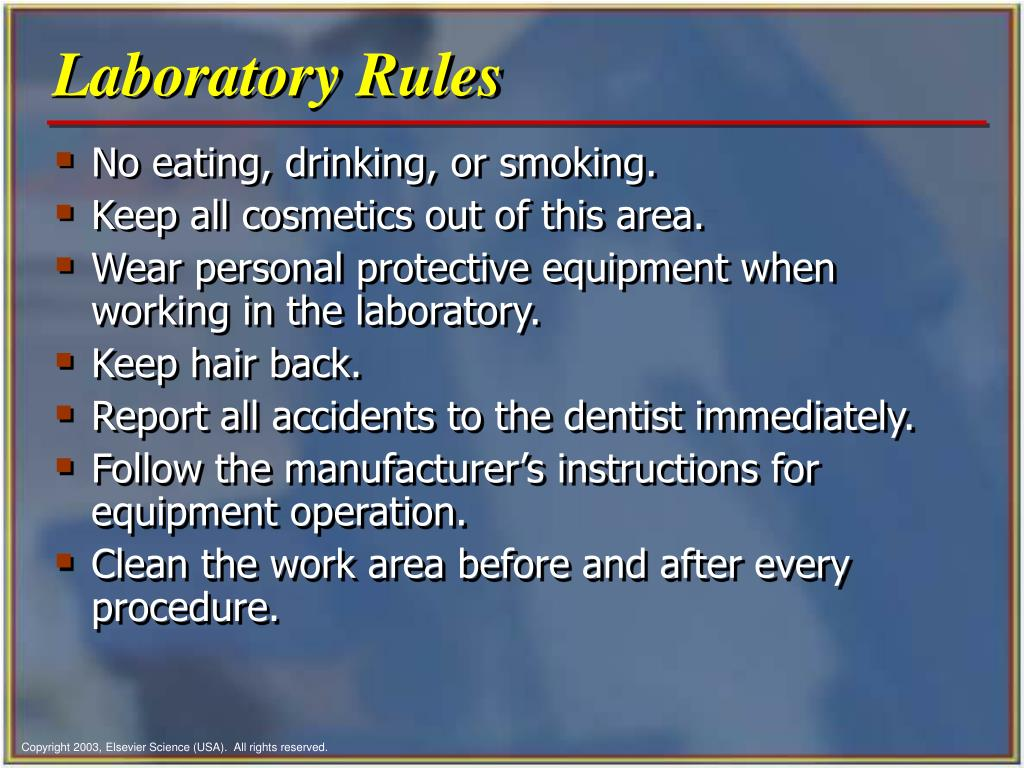 Laboratory Rules