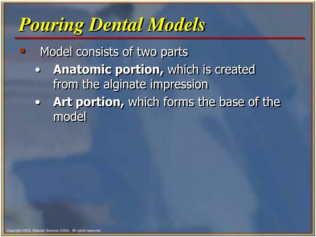 Pouring Dental Models