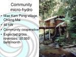 community micro hydro