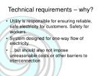 technical requirements why