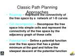 classic path planning approaches