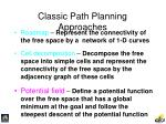 classic path planning approaches51