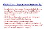 market access improvement impeded by