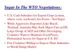 sugar in the wto negotiations