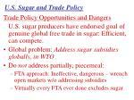 u s sugar and trade policy