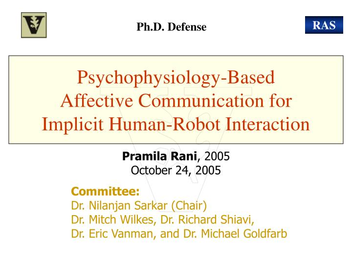 psychophysiology based affective communication for implicit human robot interaction n.