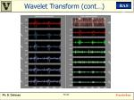 wavelet transform cont