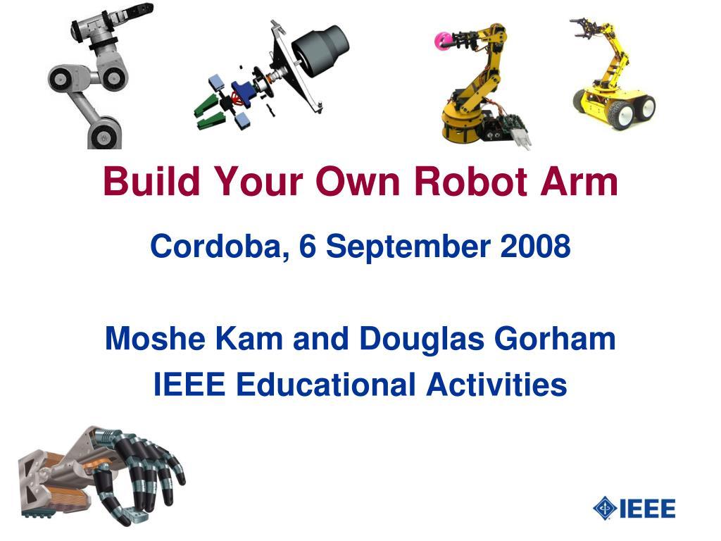 build your own robot arm l.