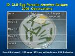 id clb egg parasite anaphes flavipes 2006 observations