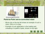 analyzing path control of servo controlled robots17