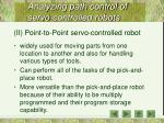 analyzing path control of servo controlled robots2