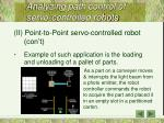 analyzing path control of servo controlled robots4