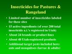 insecticides for pastures rangeland