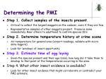 determining the pmi