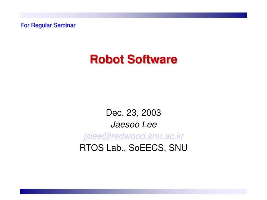 robot software l.