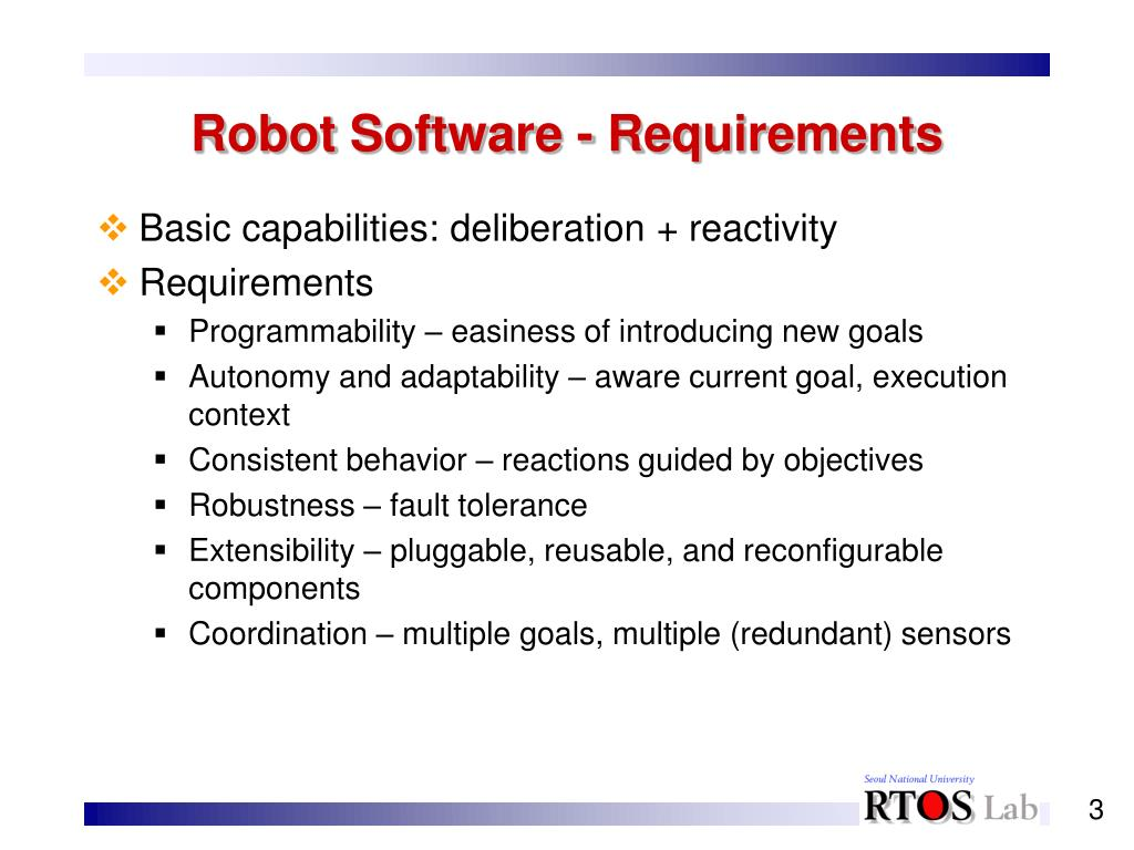 Robot Software - Requirements