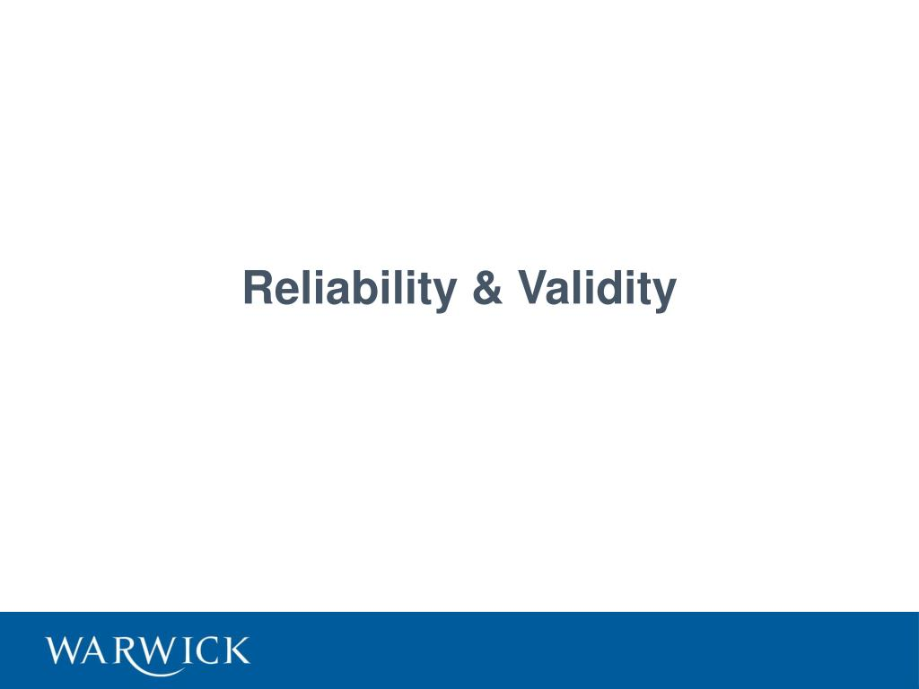 reliability validity l.
