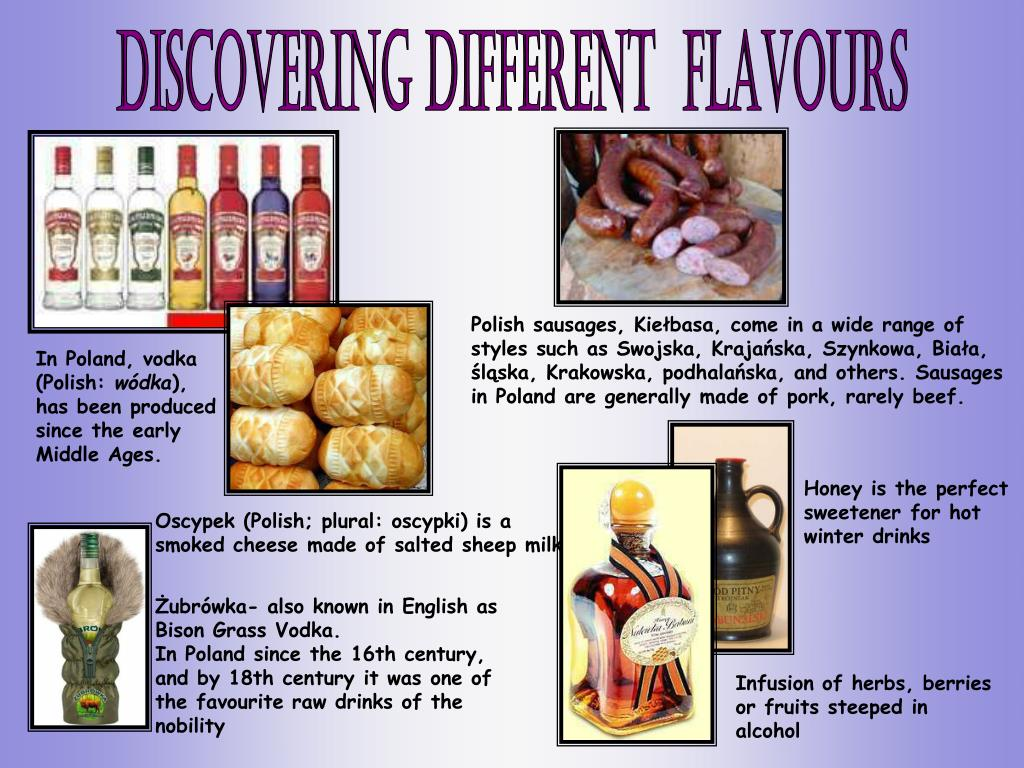 Discovering DIFFERENT  FLAVOURS
