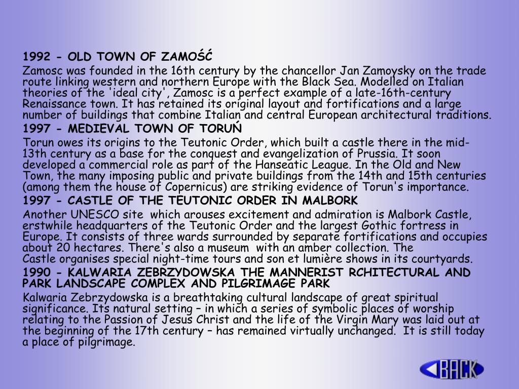 1992 - OLD TOWN OF ZAMOŚĆ