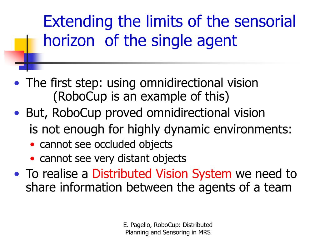 Extending the limits of the sensorial horizon  of the single agent