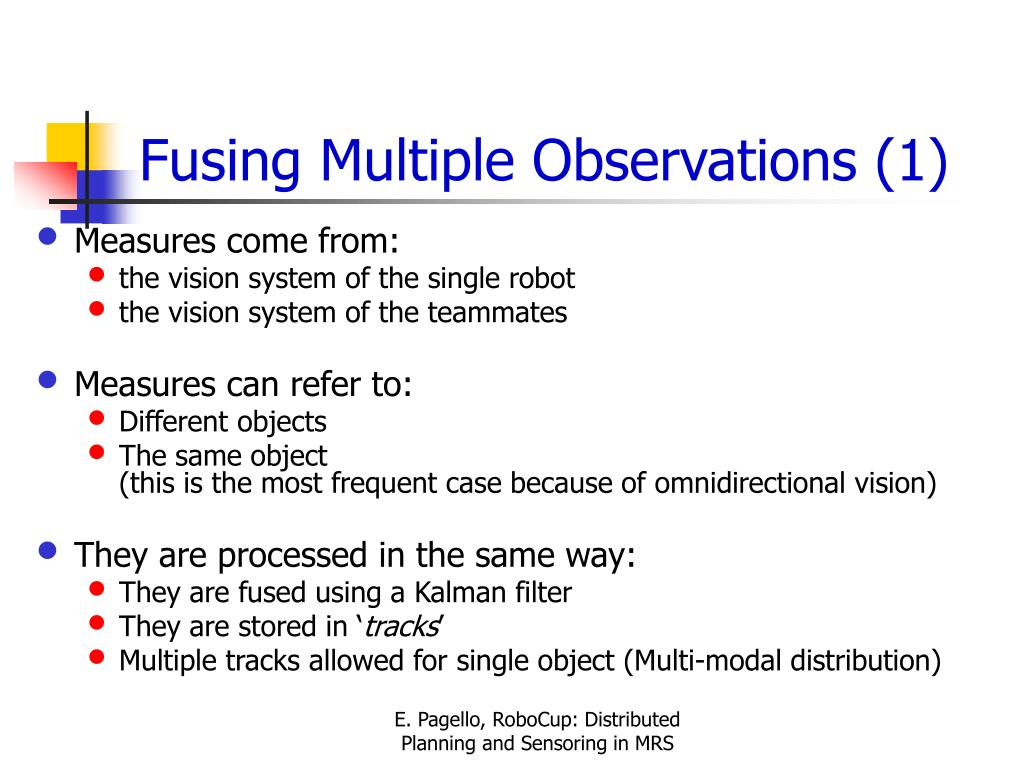 Fusing Multiple Observations (1)