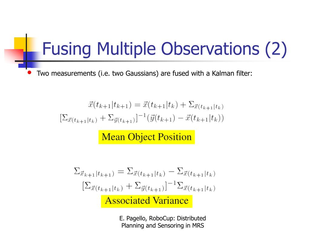 Fusing Multiple Observations (2)