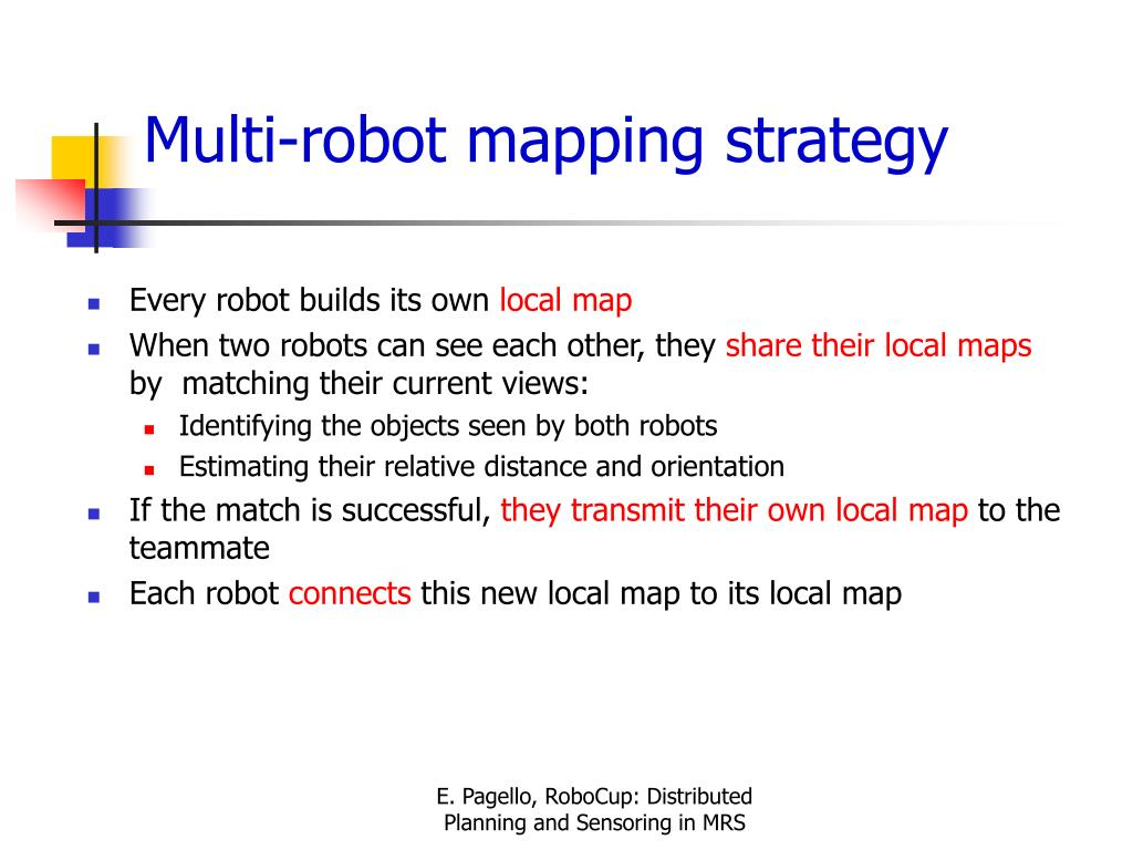 Multi-robot mapping strategy
