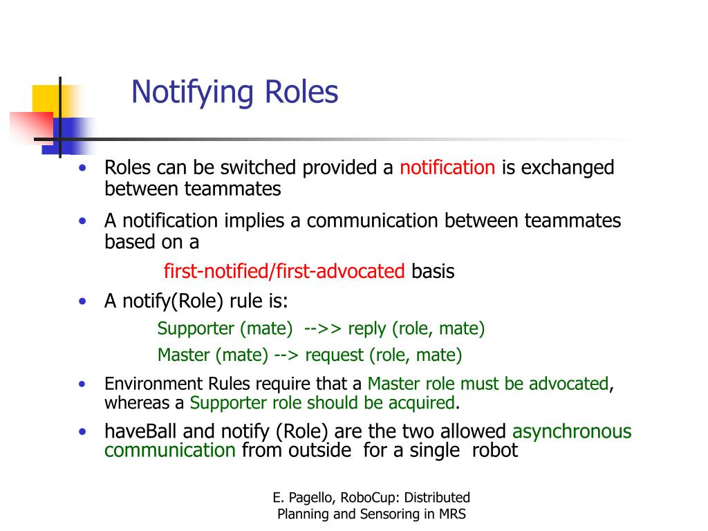 Notifying Roles