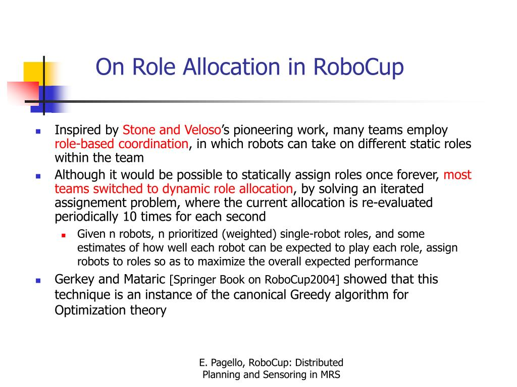 On Role Allocation in RoboCup