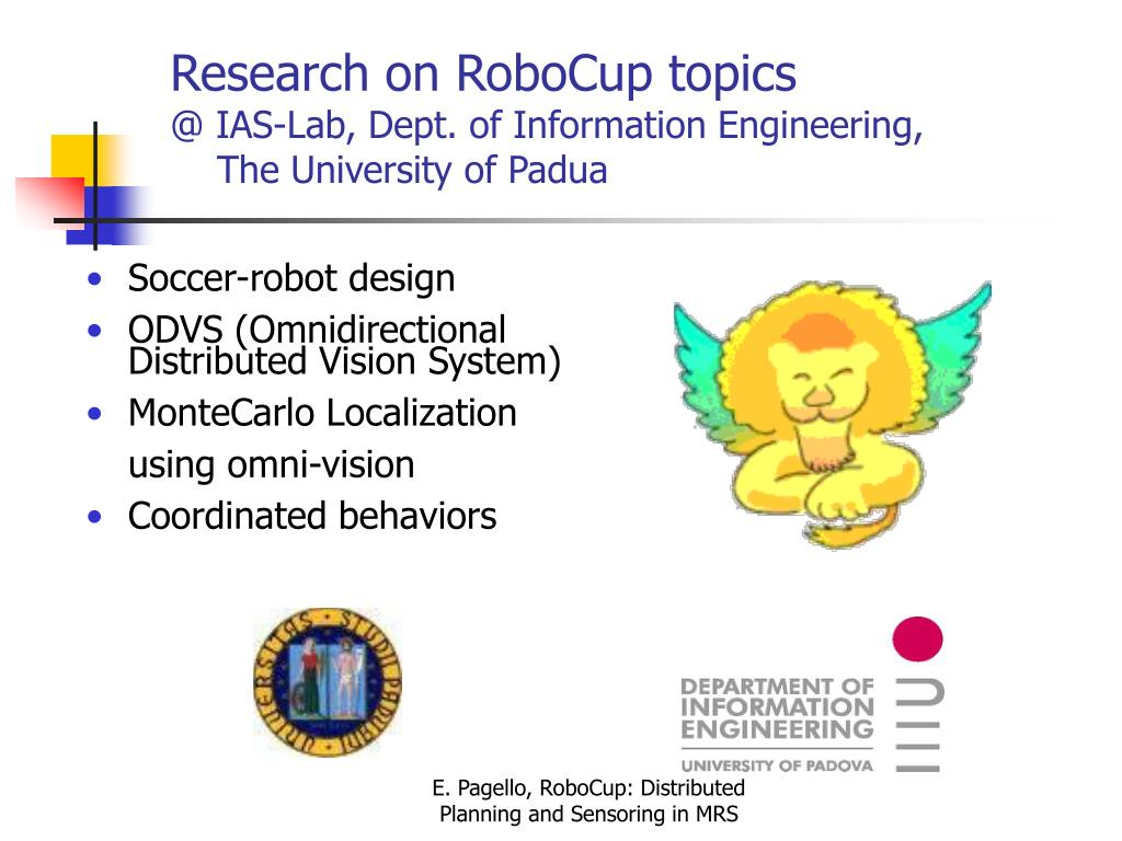 Research on RoboCup topics