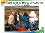 five approaches to energy conservation