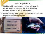 ncat experience27