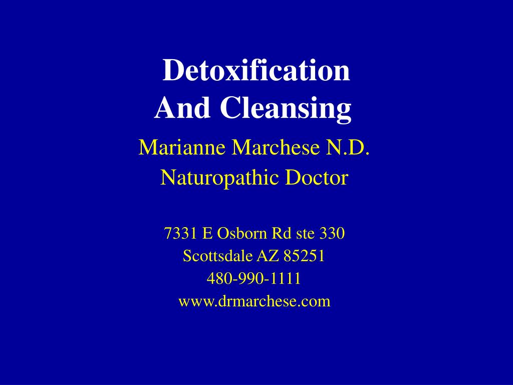 detoxification and cleansing l.